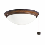 Kichler 380020MDW Mediterranean Walnut Finish Indoor / Outdoor Ceiling Fan Light Fixture
