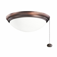 Kichler 380020OBB Oil Brushed Bronze Finish Indoor / Outdoor Ceiling Fan Light Fixture
