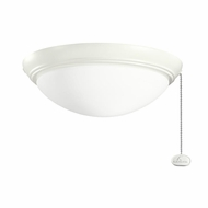 Kichler 380020SNW Satin Natural White Finish Indoor / Outdoor Fan Light Fixture