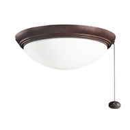Kichler 380020TZ Tannery Bronze Finish Indoor / Outdoor Ceiling Fan Light Fixture