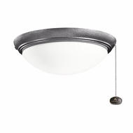 Kichler 380020WSP Weathered Steel Powder Coat Finish Indoor / Outdoor Ceiling Fan Light Fixture
