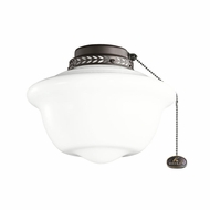 Kichler 380065SNB Satin Natural Bronze Finish 10 Inch School House Light Fixture