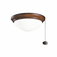 Kichler 380120MDW Mediterranean Walnut Finish Indoor / Outdoor Ceiling Fan Light Fixture