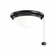Kichler 380120SBK Satin Black Finish Indoor / Outdoor Fan Light Fixture