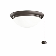 Kichler 380120SNB Satin Natural Bronze Finish Indoor / Outdoor Ceiling Fan Light Fixture