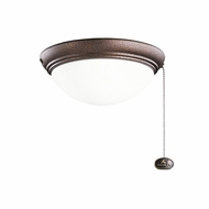Kichler 380120WCP Weathered Copper Powder Coat Finish Indoor / Outdoor Ceiling Fan Light Fixture
