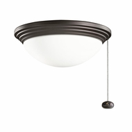 Kichler 380902SNB Satin Natural Bronze Finish Indoor / Outdoor Fan Light Fixture