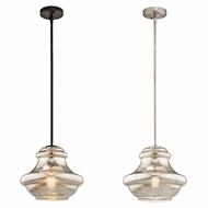 Kichler 42044MER Everly Vintage 12  Wide Pendant Light Fixture