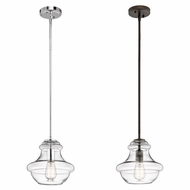 Kichler 42167CLR Everly Retro 9.75  Tall Mini Hanging Light Fixture