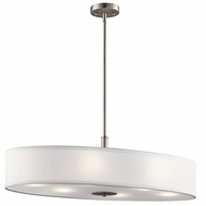 Kichler 42197NI Brushed Nickel Oval Hanging Lamp