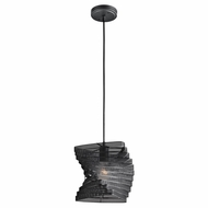 Kichler 42282BK Contemporary Black Finish 9  Wide Mini Ceiling Light Pendant