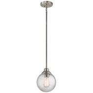 Kichler 42324NI Penelope Brushed Nickel Mini Hanging Pendant Lighting