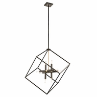 Kichler 42526OZ Cartone Vintage Olde Bronze Finish 25.5  Wide Pendant Light