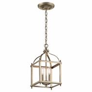 Kichler 42565SGD Larkin Sterling Gold 8  Foyer Lighting