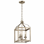 Kichler 42566SGD Larkin Sterling Gold 12  Foyer Light Fixture