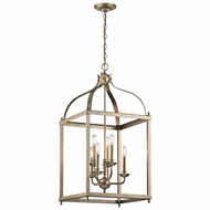 Kichler 42568SGD Larkin Sterling Gold 18  Foyer Lighting Fixture