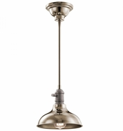 Kichler 42579PN Cobson Retro Polished Nickel Mini Pendant Lamp