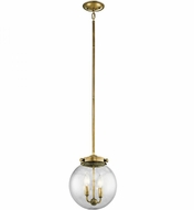 Kichler 42588NBR Holbrook Natural Brass Mini Pendant Hanging Light