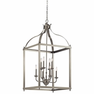 Kichler 42591NI Larkin Brushed Nickel Finish 47.75  Tall Foyer Lighting