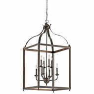 Kichler 42591OZ Larkin Olde Bronze Finish 24  Wide Foyer Light Fixture