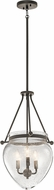 Kichler 42592OZ Belle Olde Bronze Foyer Lighting Fixture