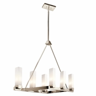 Kichler 42745PN Savina Modern Polished Nickel Finish 28.5  Tall Halogen Chandelier Lighting