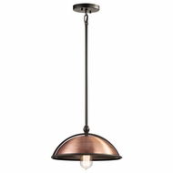 Kichler 42782ACO Sepia Retro Antique Copper Finish 6.5  Tall Lighting Pendant