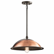 Kichler 42783ACO Sepia Vintage Antique Copper Finish 16  Wide Pendant Lamp