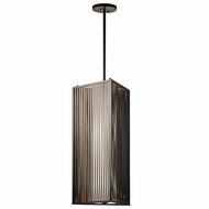 Kichler 42792OZ Modern Olde Bronze Finish 31.5  Tall Foyer Hanging Pendant Lighting