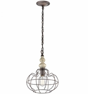 Kichler 42844DAW Getseto Vintage Distressed Antique White Ceiling Pendant Light