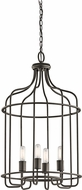 Kichler 42855OZ Tinley Modern Olde Bronze Foyer Light Fixture