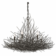 Kichler 42888OZ Organique Country Olde Bronze Finish 30  Wide Ceiling Chandelier