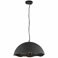 Kichler 43001WZC Fracture Vintage Weathered Zinc Finish 19.5  Wide Hanging Pendant Light