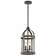 Kichler 43105OZ Steeplechase Olde Bronze Finish 10  Wide Foyer Lighting