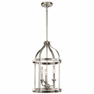 Kichler 43106CLP Steeplechase Classic Pewter Finish 22.5  Tall Foyer Light Fixture