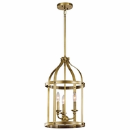 Kichler 43106NBR Steeplechase Natural Brass Finish 13  Wide Foyer Lighting Fixture