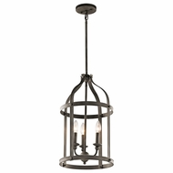Kichler 43106OZ Steeplechase Olde Bronze Finish 22.5  Tall Entryway Light Fixture