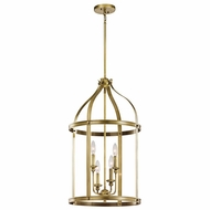 Kichler 43107NBR Steeplechase Natural Brass Finish 29  Tall Foyer Light Fixture