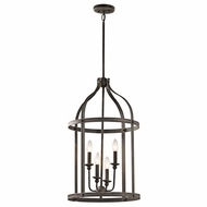 Kichler 43107OZ Steeplechase Olde Bronze Finish 17  Wide Foyer Lighting Fixture