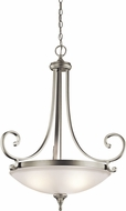 Kichler 43164NIL16 Monroe Brushed Nickel LED Hanging Pendant Light