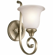 Kichler 43170SGD Monroe Sterling Gold Light Sconce