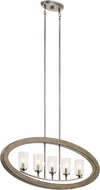 Kichler 43186DAG Grand Bank Modern Distressed Antique Gray Kitchen Island Light