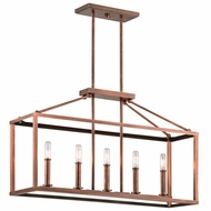Kichler 43217ACO Archibald Vintage Antique Copper Finish 8.5  Wide Island Light Fixture