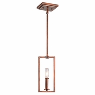 Kichler 43221ACO Archibald Retro Antique Copper Finish 10.75  Tall Mini Drop Lighting