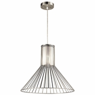 Kichler 43245NI Boite Brushed Nickel Finish 16.5  Tall Hanging Light Fixture