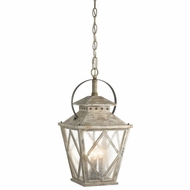Kichler 43259DAW Hayman Bay Traditional Distressed Antique White Finish 15  Wide Foyer Drop Ceiling Lighting
