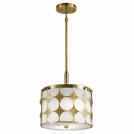 Kichler 43275NBR Charles Contemporary Natural Brass Drum Ceiling Pendant Light