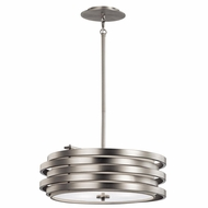 Kichler 43301NI Roswell Contemporary Brushed Nickel Finish 7  Tall Ceiling Light Pendant