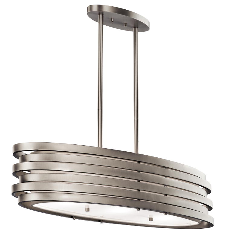 amazing Kitchen Island Lighting Brushed Nickel #6: Kichler 43303ni Roswell Contemporary Brushed Nickel Finish 7 75