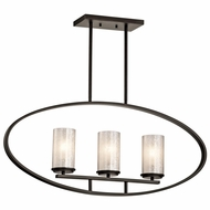 Kichler 43318OZ Berra Olde Bronze Finish 15.5  Tall Island Lighting